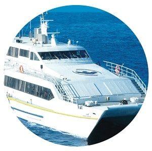 کشتی کاتاماران گوهر کیش